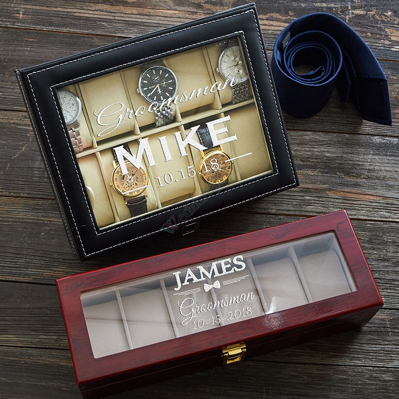 Personalized Groomsmen Watch Box
