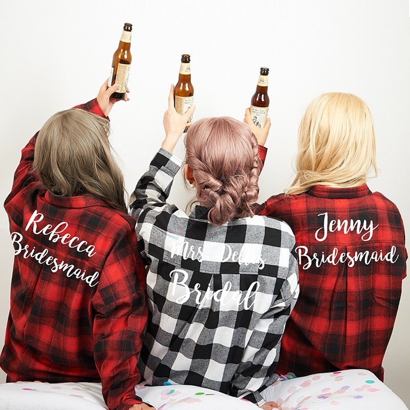 Bridal Party Flannels Bridesmaid Shirt
