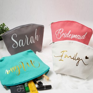 Monogram Cosmetic Bag Bridesmaid Gifts