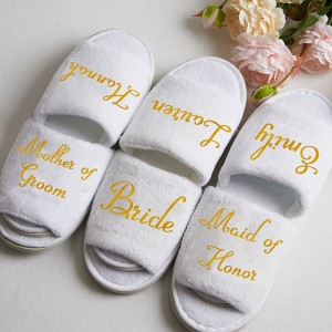 Personalized Bridesmaids Slippers Set of 3