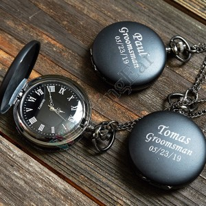 Personalized Engraved Pocket Watches For Groomsmen
