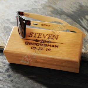 Personalized Groomsmen Wooden Sunglasses