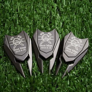 Customized Golf Marker Divot Tool Groomsmen Gifts