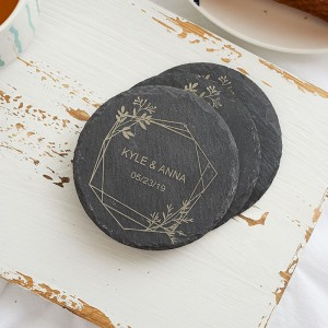 Personalized Wedding Favor Gift Slate Coaster