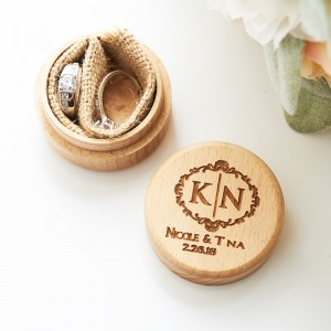 Personalized Wedding Ring Box UP-sell