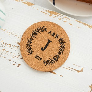 Set of 5 Wedding Favor Customized Coaster