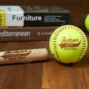 Groomsman Gift Customized Softball