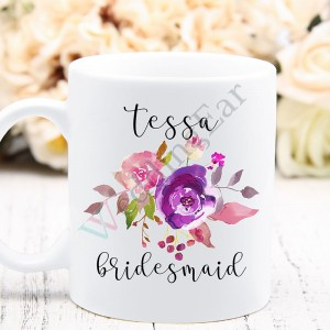 Bridesmaids Gift Personalized Coffee Mug