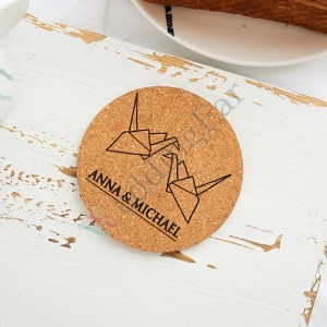 Corkn Wedding Favor Personalized Coaster Set of 5