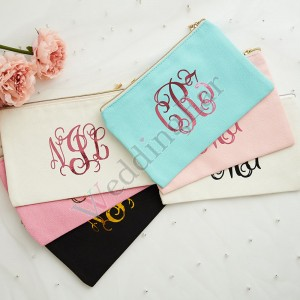 Customized Bridesmaid Cosmetic Bag