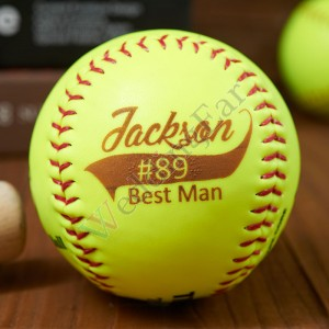 Customized Engraved Unique Design Softball