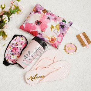 Floral 5 of Set Bridesmaid Proposal Box with Free Hair Band