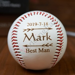 Personalized Baseball Engraved Groomsman Gift