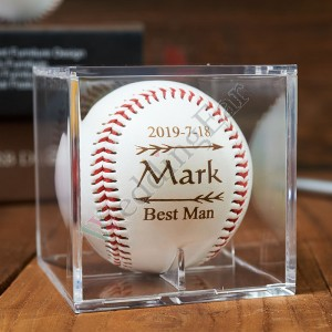 Personalized Baseball & Baseball Bat Set Groomsman Gift