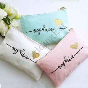 Personalized Bridesmaid Makeup Bag