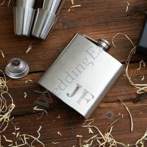 Personalized Stainless Steel Flask Set