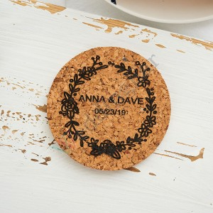 Personalized Wedding Favor Gift Corkn Coaster Set 5