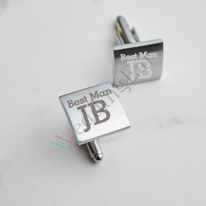 Customized Infinity Round Stainless Steel Cuff Links
